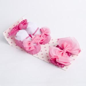 Pink Ribbon Headband and Socks