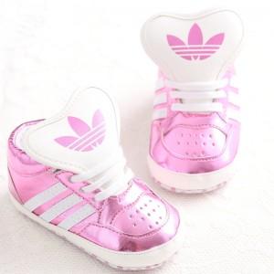 Baby Gloss Hicut Prewalker Shoes (Pink)