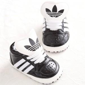 Baby Gloss Hicut Prewalker Shoes (Black)