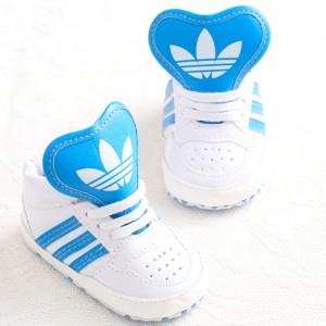Baby Gloss Hicut Prewalker Shoes (Blue)