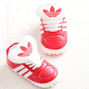 Baby Gloss Hicut Prewalker Shoes (Red)