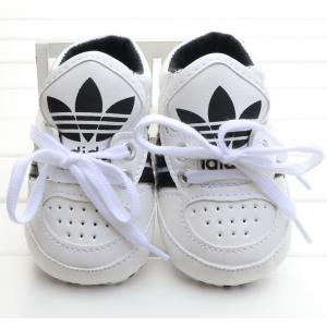 Baby Ribbon Tie Prewalker Shoes (White)
