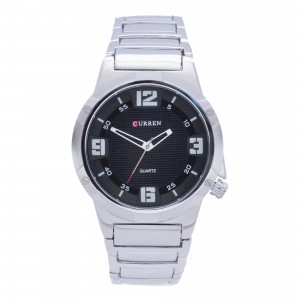 Alden Stainless Steel by Curren (Black Face with White Dial)