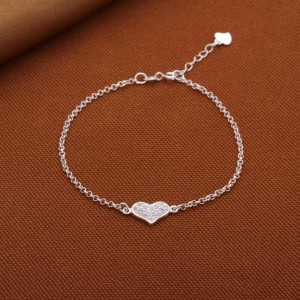 Bettina Small Heart 925 Silver Bracelet by Argento