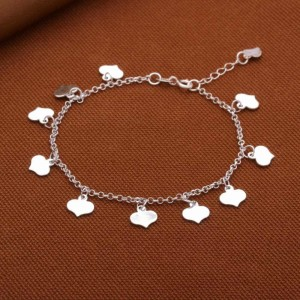 Carisa Dangling Mini-Hearts Bracelet