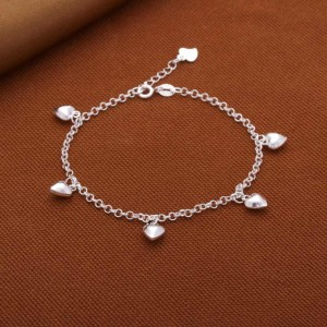 Janine Little Hearts 925 Silver Bracelet by Argento