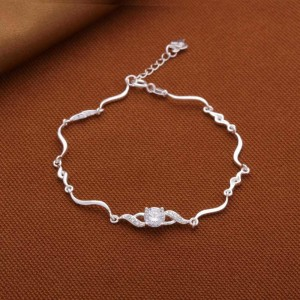 Mandy Princess 925 Silver Bracelet 7.5 inches