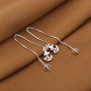 Atarah 925 Silver Anchor Dangling Earrings by Argento