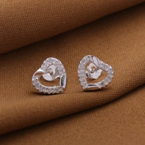 Morisette Center Heart Stone Earrings