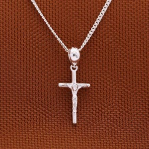 Crucifix Small 925 Silver Necklace