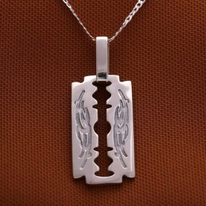 Gillette Tribal 925 Silver Necklace 22inches