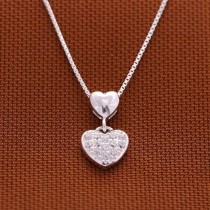 925 Sterling Silver Gwen Heart Necklace