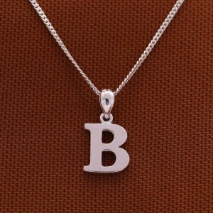 Letter B Necklace 925 Silver by Argento
