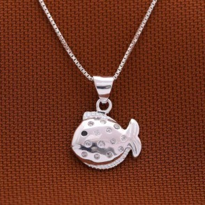Marlin Fish 925 Silver Necklace