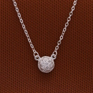 Shiloh 925 Silver with Round Pendant with stones Necklace by Argento