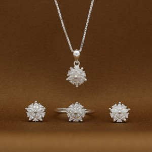 Venus 925 Silver Earrings, Necklace and Ring Set (Clearance Sale SRP1,499)