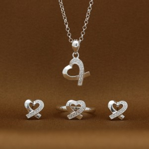 Winona #2 925 Silver Necklace, Earrings and Ring Set (Clearance Sale SRP1,499)