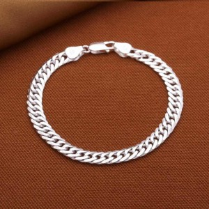 Gannicus Men's 925 Silver  Bracelet 0.5cm thickness