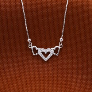 Tres Marias Hearts 925 Silver Necklace 3.4g