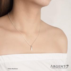 Vileta Necklace 925 Silver by Argento