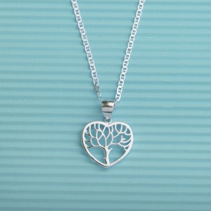 Arwen Tree Heart Necklace 925 silver by Argento
