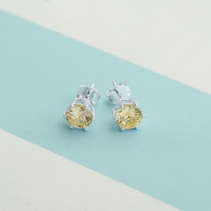 Peridot Birthstone 2 for August 925 Silver Earrings