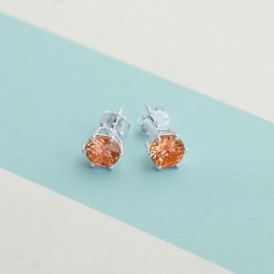 Topaz Birthstone 2 for November 925 Silver Earrings
