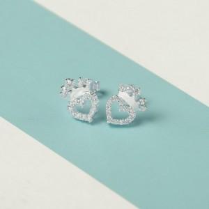 Deina Crown-Heart Earrings by Argento