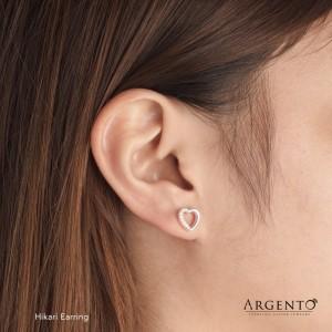 Hikari Heart  925 Silver Earrings by Argento
