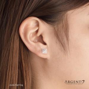 Juvia 925 Silver Earrings by Argento