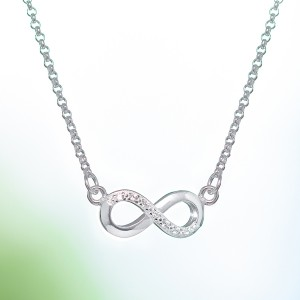 Infinity 925 Silver Necklace by Argento