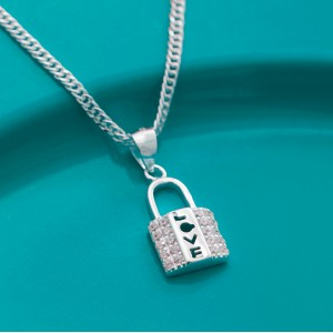 Guardian's Lock Necklace by Argento 925 Silver