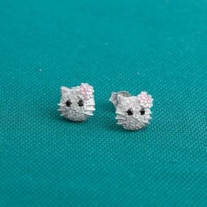 Hello Kitty D 925 Silver Earrings