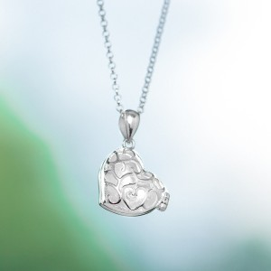 Love Locket 925 Silver Necklace 18 inches