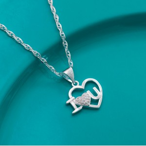 Macy Heart Necklace by Argento 925 Silver