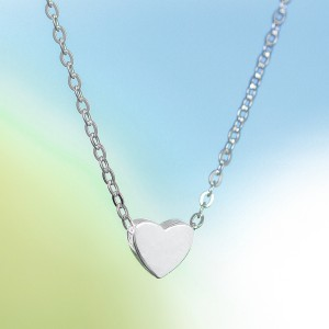 Raven 925 Silver with Heart Pendant Necklace