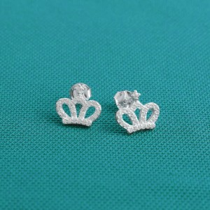Rodoras Crown Earring by Argento 925 Silver