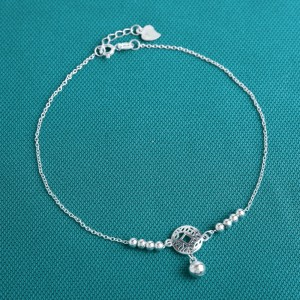 Selena 925 Sterling Silver  Anklet by Argento