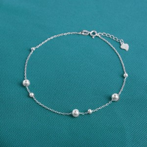 Sura Beads 925 Silver Anklet by Argento