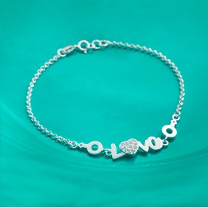 Viah Love 925 Silver Bracelet by Argento