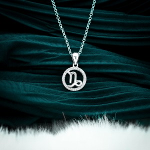 Zodiac Sign Capricorn 925 Silver Necklace 18inches