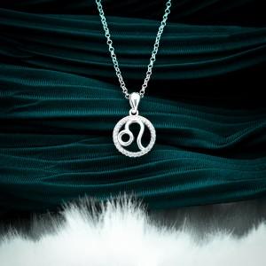Zodiac Sign Leo 925 Silver Necklace 18inches