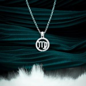 Zodiac Sign Virgo 925 Silver Necklace 18inches