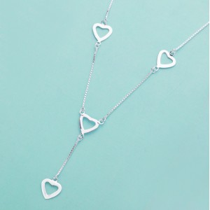 Ariana 4-Hearts 925 Silver Necklace