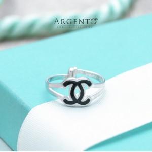 Chantal Designer-Inspired 925 Silver Adjustable Ring for Kids