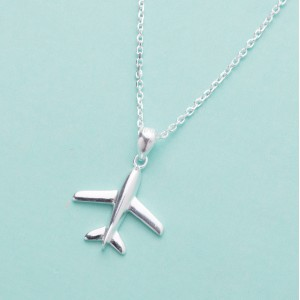 Dwight Airplane 925 Sterling Silver Necklace by Argento