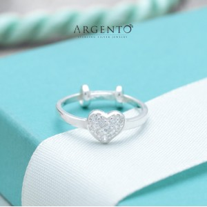 Elsa Heart Ring for Kids 925 Silver by Argento (Adjustable)