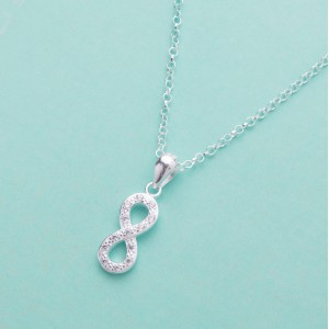 Infinity Vertical 925 Sterling Silver Necklace by Argento