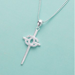 Jhanel Cross 925 Sterling Silver Necklace by Argento