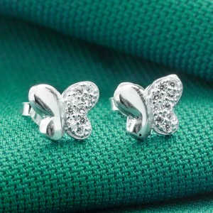 Kimberly Butterfly 925 Silver Earrings